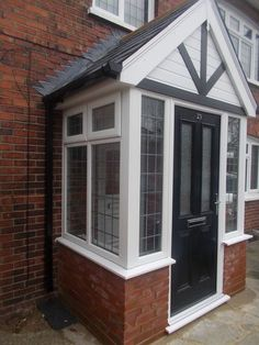 House Exterior Before And After Porch Addition Porticos Ideas Porch Uk, Front Door Porch, Front Porch Design, Side Porch, House With Porch, House Front, Porch Entry, Front Doors, Brick Porch