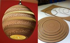 Cardboard Sphere Lamp