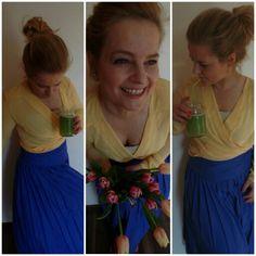 Yellow chifon blouse
