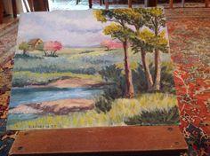 Paesaggio primaverile dipinto da me Painting, Art, Painting Art, Paintings, Kunst, Paint, Draw, Art Education, Artworks