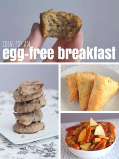 Some ideas for an egg-free breakfast!