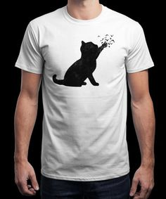 """Poetic cat"" is today's £9/€11/$12 tee for 24 hours only on www.Qwertee.com Pin this for a chance to win a FREE TEE this weekend. Follow us on pinterest.com/qwertee for a second! Thanks:)"