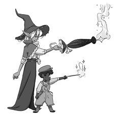 my beautiful magic boys (and a beautiful magic girl hidden in an umbrella)