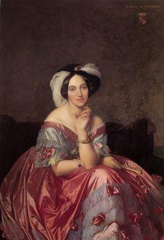 ~ Jean-Auguste-Dominique Ingres ~ French artist, 1780-1867: Portrait of Baronne de Rothschild