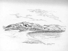 Kiotari Rhodos - Bleistiftzeichnung - Okt. 95   ©Manfred Cremer, Bensberg, DE