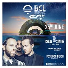 BCL Beach Cult live events present a spectacular line up of international artists performing live in Ayia Napa in 2017 Chase And Status, Ayia Napa, International Artist, Live Events, Beach, Movie Posters, Film Poster, Seaside, Film Posters
