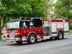 Fire Engines Photos - Utica FD Engine 3