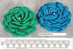 Crocheted flowers. Interesting model. Schemes