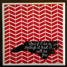 Set of 4 Coasters ft. OCMS Lyrics to Wagon by SarahSaurusDesigns, $10.50