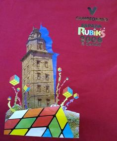 Radical Spanish Rubik's Cube 2008 Championship T Shirt Red Medium Espana Tee