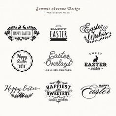 SALE  Easter Overlay design elements  for personal von summitavenue, $8.00