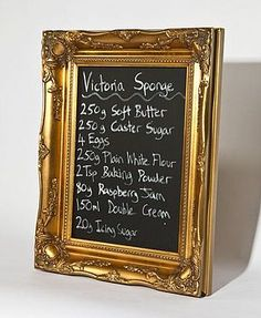 Ornately Framed Chalkboard ~ for the kitchen, office, or kids' playroom