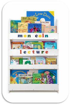 Les produits tidy books on pinterest livres Bibliotheque murale enfant