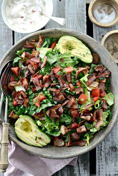 Bacon, avocado and tomato salad