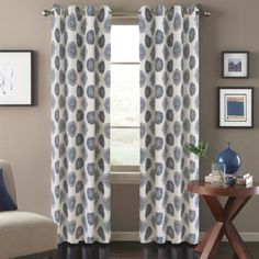 Orion Window Curtain Panel in Blue - BedBathandBeyond.com