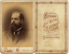 great cabinet card back and frame