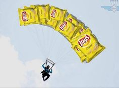 A Man Just Made A Parachute Out Of Few Lay's Wafer Packets, Did Skydiving  Landed Safely.