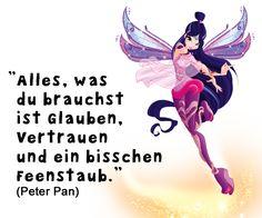 True words PeterPan Kindsein sayings Feenstaub True Words, Romantic Humor, Art Quotes, Inspirational Quotes, Winx Club, Disney Quotes, Girl Blog, Make A Wish, Naive
