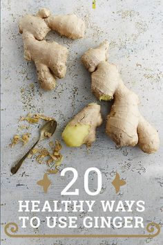 20 beautiful and healthy recipes to use ginger!