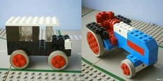 Lego taxi and tractor Tractor, Wooden Toys, 1960s, Traditional, Wood Toys, Tractors