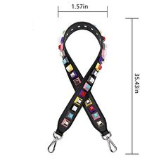 ChilMo Genuine Leather Flower Rivet Replacement Wide Shoulder Strap for Handbags Purse Bags Leather Flowers, Shoulder Strap, Handbags, Purses, Personalized Items, Detail, Amazon, Stuff To Buy, Amazon Warriors