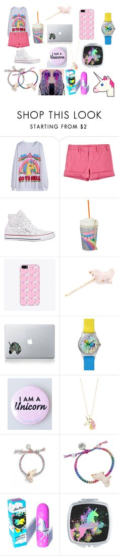 """i ♥ unicorns !!"" by mrshoranirwindoblas ❤ liked on Polyvore featuring G1, Converse, Skinnydip, Venessa Arizaga, Accessorize, Lime Crime and WhatToWear"
