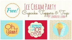 52 Mantels: Ice Cream Party Printables