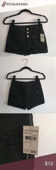 Brand New Black High Rise Shorts Size 1 Black high rise shorts from Nordstrom rack of the brand Fire Los Angeles. Brand new with tags, in perfects condition. No stains or defects. Size 1 Fire Los Angeles Shorts Jean Shorts