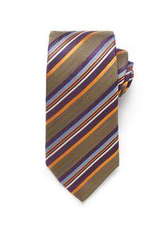 Multi Stripe Tie - Olive (http://noeliasanchez.jhilburn.com/products/multi_stripe_tie/olive) $89