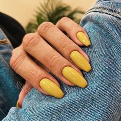 Want some ideas for wedding nail polish designs? This article is a collection of our favorite nail polish designs for your special day. Yellow Nail Polish, Yellow Nails, Fall Nail Designs, Nail Polish Designs, Nails Design, Cute Nails, Pretty Nails, Coffin Nails, Acrylic Nails