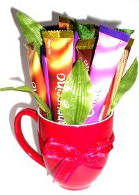 How to make Coffee Sachet Bouquet  - DIY Craft Project with instructions from Craftbits.com