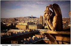 Gargoyle on the Notre Dame.- Will see him myself one day
