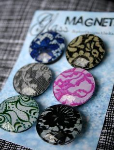Glass Magnets  Lace by ZephyrDesignsAlaska on Etsy, $8.00