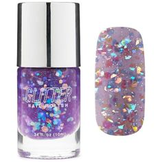 Forever21 Glitter Purple Nail Polish (220 RUB) ❤ liked on Polyvore featuring beauty products, nail care, nail polish, beauty, nail, purple, forever 21 nail polish and forever 21