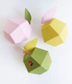 Adorable apple party favor boxes