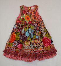 Oilily Limited Edition Stunning Velvet Rose Floral Layered Sevos Dress Sz 92 2T
