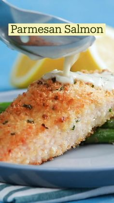Salmon Recipes, Fish Recipes, Seafood Recipes, Dinner Recipes, Cooking Recipes, Healthy Recipes, Fish Dinner, Seafood Dinner, Parmesan Crusted