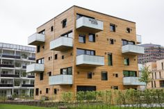 Designed with Dlubal Software: Woodcube - A 5-Story Timber Building in Hamburg | www.dlubal.com | #bim #cad #dlubal #dynamics #eurocode #engineering #engineeringsoftware #fem #rfem #rstab #staticanalysis #structuralanalysis
