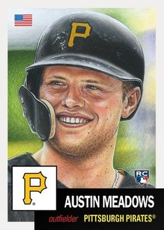 2018 Topps Living Set - Week 21 - Austin Meadows - Ready to Ship Pittsburgh Sports, Pittsburgh Pirates, The Outfield, Trading Card Database, Trivia, Trading Cards, Mlb, Baseball Cards, Ebay