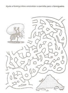 ESPAÇO EDUCAR: Atividades para a fábula a cigarra e a formiga
