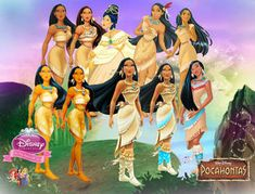 Pocahontas Evolution by fenixfairy on DeviantArt Disney Princess Facts, Princess Pocahontas, Disney Fun Facts, Disney Princesses And Princes, Disney Pocahontas, Disney Princess Dresses, Disney Films, Disney Cartoons, Disney Pixar