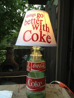 Old Coca-Cola 2 Liter Glass Bottle Lamp