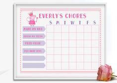 Chore Chart Printable Chore Chart Blank Chore Chart Kids Chore