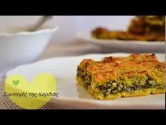 Πλαστός (θεσσαλική πίτα) - YouTube Dairy Free, Gluten Free, Quiche, Pie, Vegan, Breakfast, Recipes, Food, Youtube