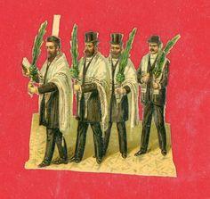 Vintage Judaica Small Victorian Die Cuts Citron Jewish New year cards Scraps | eBay