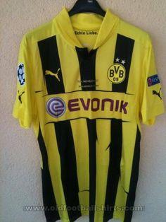Borussia Dortmund football shirt 2012 - 2013 sponsored by Evonik Champion Wear, Mats Hummels, Classic Football Shirts, Uefa Champions League, Football Jerseys, Soccer, Sports, Tops, T Shirts