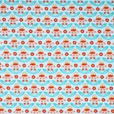 Kinderstoffen Katoen - Kamille Bloem Licht Blauw
