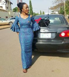 Beautiful and Classical AsoebI Collections - Reny styles African Fashion Ankara, African Inspired Fashion, Latest African Fashion Dresses, African Dresses For Women, African Print Dresses, African Print Fashion, Africa Fashion, African Attire, Ankara Long Gown Styles