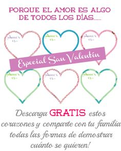 Tus Nanny Tips: Imprimible GRATIS ---> Especial San Valentín!!