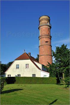 Poster Alter Leuchtturm Travemünde